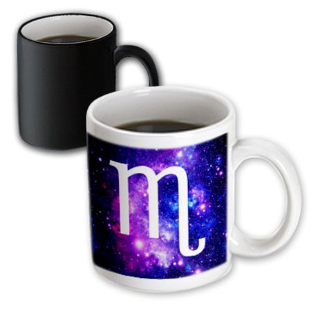 3dRose Scorpio star sign on purple space background - zodiac horoscope symbol - Magic Transforming Mug, -