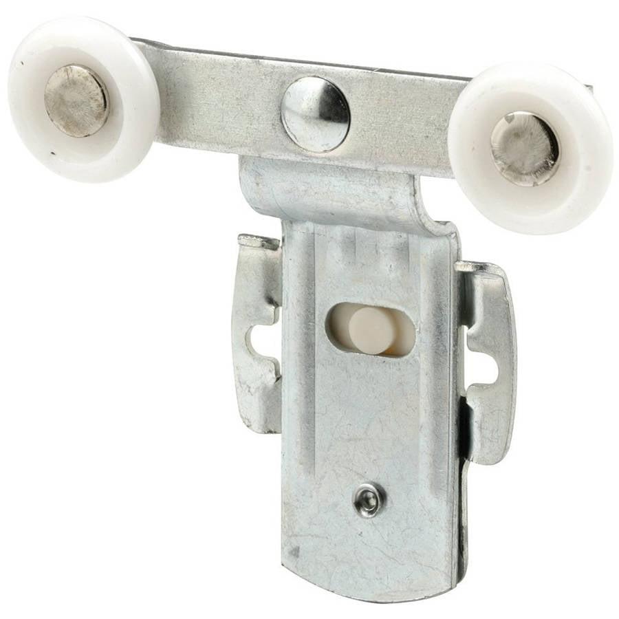 "Slide-Co 162165 Closet Door Tandem Roller with Back 11/16"" Offset and 7/8"" Nylon Wheel, 2pk"