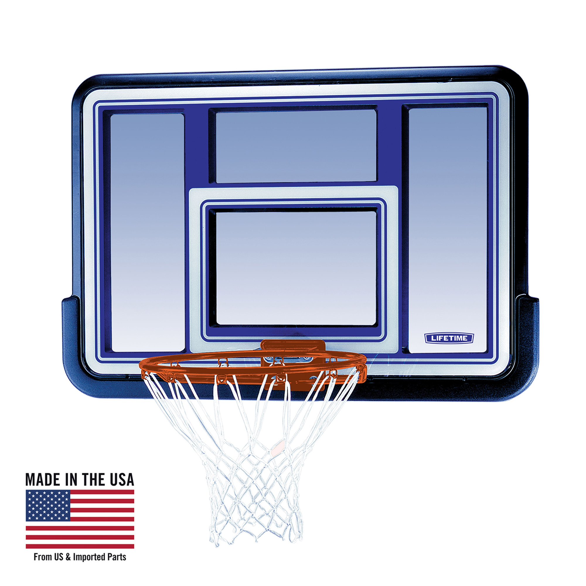"Lifetime 44"" Backboard and Rim Basketball Combo, 73650"