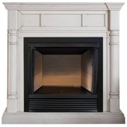 ProCom FBS32-500-2AW, 32in Ventless Firebox PC32VFC with CM500-2AW Antique White Mantel