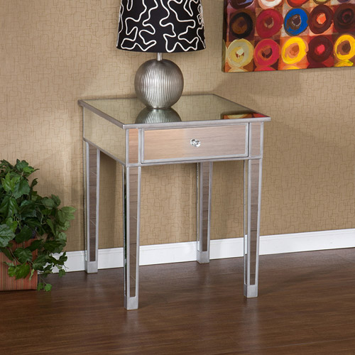 Awesome Illusions Collection Mirrored Accent Table