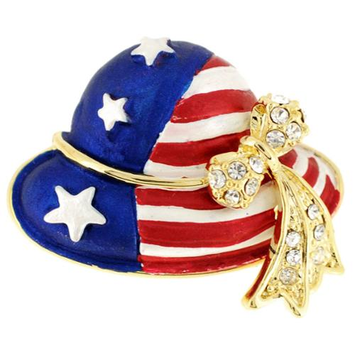 Fantasyard July 4th American Flag Hat Pin Brooch by Overstock