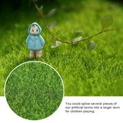 Rdeghly 10 PCS Artificial Grass Mat Turf Lawn Garden Micro Landscape Ornament Home Decor, 15 x 15cm
