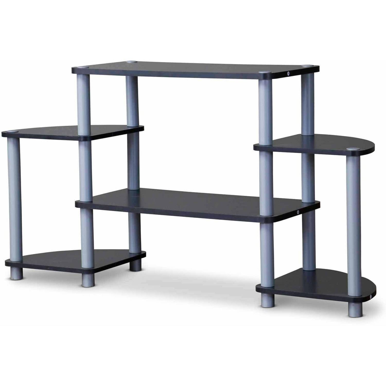 Baxton Studio Orbit Triple Tier TV Stand for TVs up to 42""