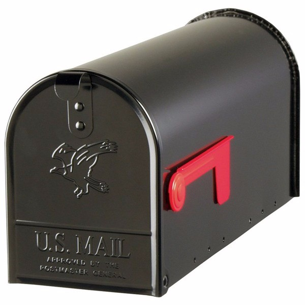 Fulton Corporation 20410574 Large Premium Steel Rural Mailbox, Black