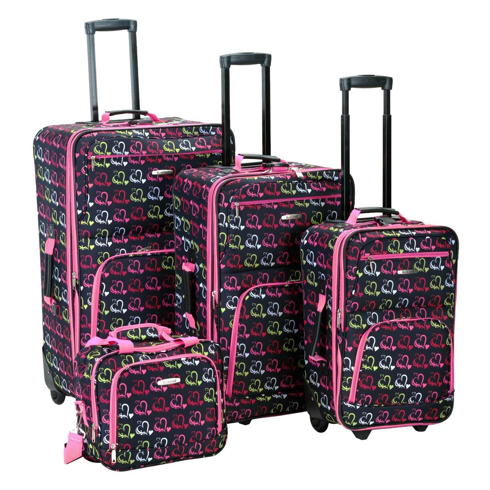 Rockland Luggage Fashion 4 Piece Expandable Luggage Set, Multiple ...