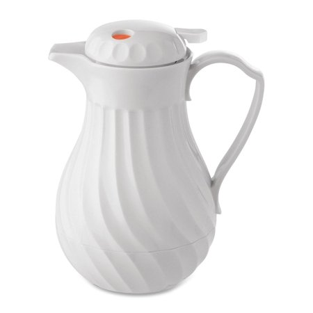St Germain Carafe (Hormel, HOR402264, Insulated White Swirl Carafe, 1 Each,)