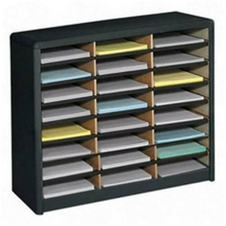 - Value Sorter 24 Compartment - Literature Organizer - Black