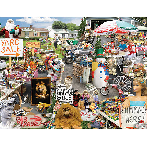 White Mountain Puzzles Down-Home Favorites, Yard Sale, 1000-pieces