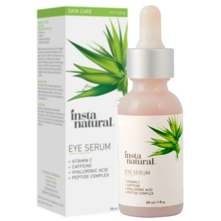 InstaNatural Eye Serum, Reduce Dark Circles & Puffiness, Vitamin C, 1