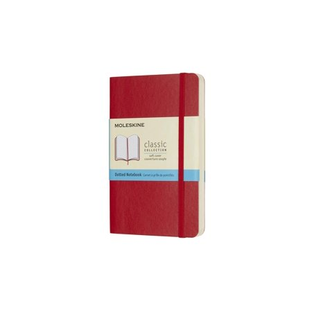 Moleskine Classic Notebook, Pocket, Dotted, Scarlet Red, Soft Cover (3.5 X 5.5) -