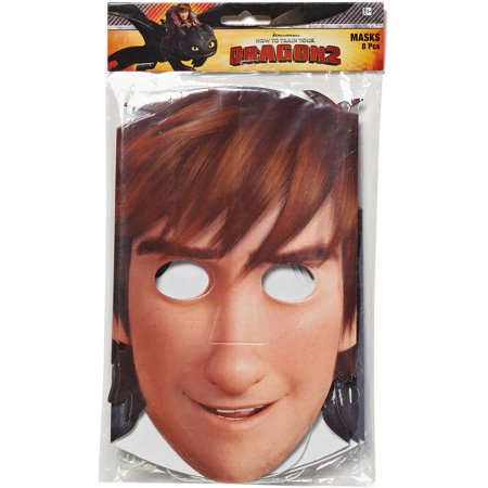 How to Train Your Dragon Party Masks, 8 Count, Party Supplies