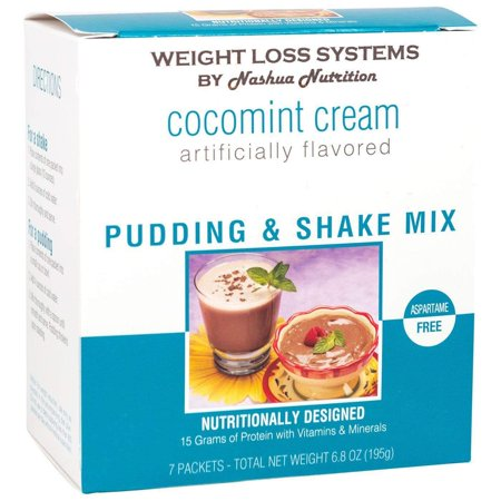Weight Loss Systems Pudding and Shake Aspartame Free - Cocomint Cream - 7/Box - High Protein - Low Calorie - Low Fat - Low (Best Low Carb Protein Shakes For Weight Loss)