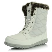 DailyShoes Women's Comfortable Round Toe Flat Ankle High Eskimo Winter Fur Snow Boots, 11