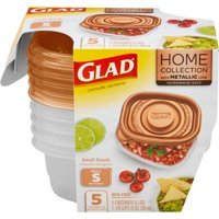 Glad Home Collection Small Snack Food Storage Containers - 9oz - 5ct