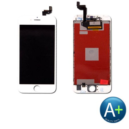 Touch Screen Digitizer and LCD for Apple iPhone 6S White (A1633, A1688, (Iphone 6 Lcd Screen And Digitizer Full Assembly)