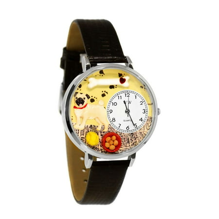 Pug Watch in Silver (Large)
