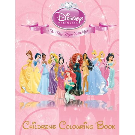 Disney Princess Children's Colouring Book : This A4 113 Page Children's Colouring Book Has Fantastic Images of All the Disney Princess's for You to Colour, They Include Ariel, Aurora, Belle, Cinderella, Jasmine, Menda, Mulan, Pocahontas, Rapunzel and Snow White. - Belle And Snow White