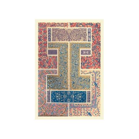 Medieval Design With Vines Print (Unframed Paper Print -
