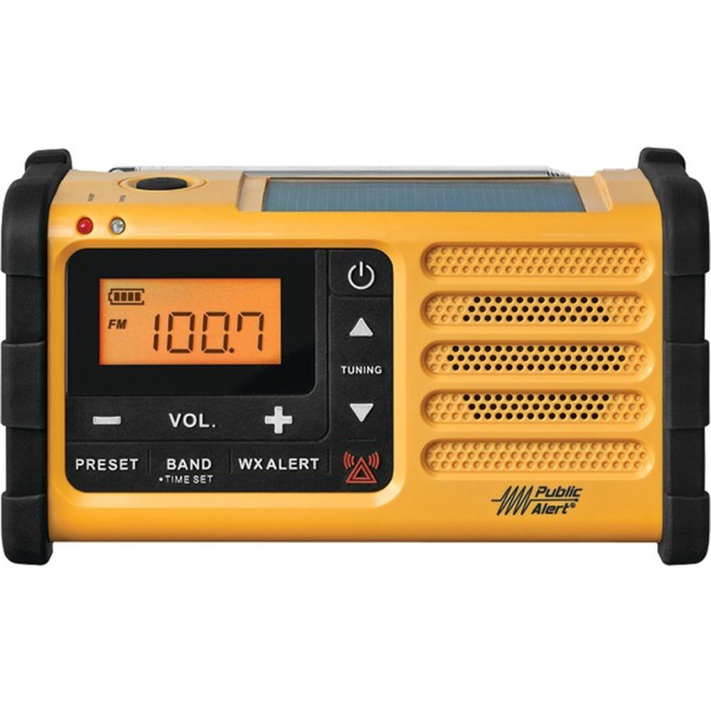 Sangean Portable Digital AM FM Emergency Weather Alert Radio with Large Easy to Read Backlit LCD Display by Jensen