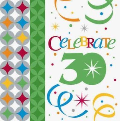 Celebrate in Style 30th Birthday 3-Ply Beverage Napkins , 5PK