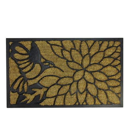 Door Decorate (Decorative Black Rubber and Coir Outdoor Rectangular Door Mat 29.75
