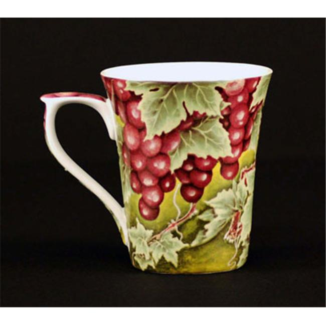 Euland China FR0-002G Set Of Two 12-Ounce Mugs - Grapes