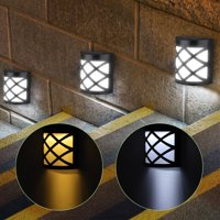 Solar Wall Lights Outdoor -Led Waterproof Lighting,Automatic Sensor Activates, Perfect for Deck, Fence, Patio, Front Door, Wall, Stair, Landscape, Yard and Driveway Path,White/Warm White-1/2/4 Pack