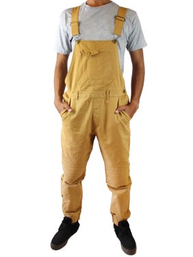 c83b0334edf62 Product Image Cathedral Men's Overalls Dungaree Bib Pocket Front Jogger  Pant Slim Fit Tobacco Large