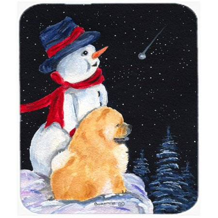 Snowman With Chow Chow Mouse Pad, Hot Pad Or Trivet - image 1 de 1