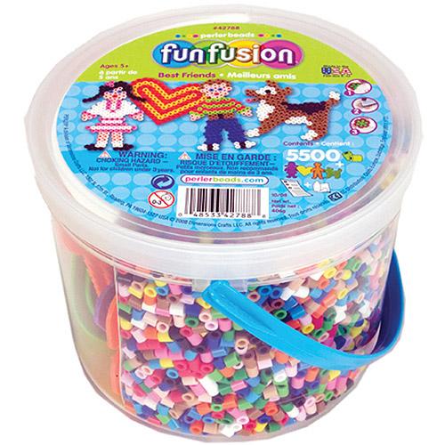 Perler  Fun Fusion Fuse Bead Activity Bucket-Best Friends