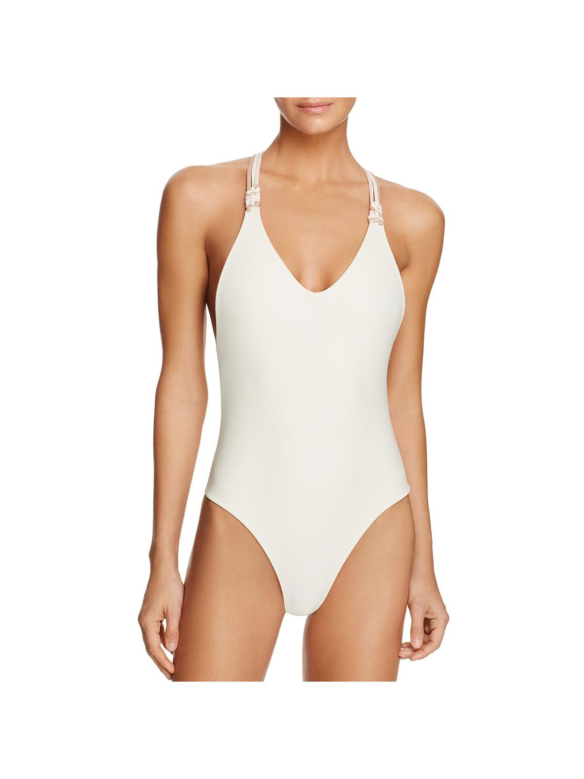 Tularosa Womens Dorthy Braided V-Neck One-Piece Swimsuit