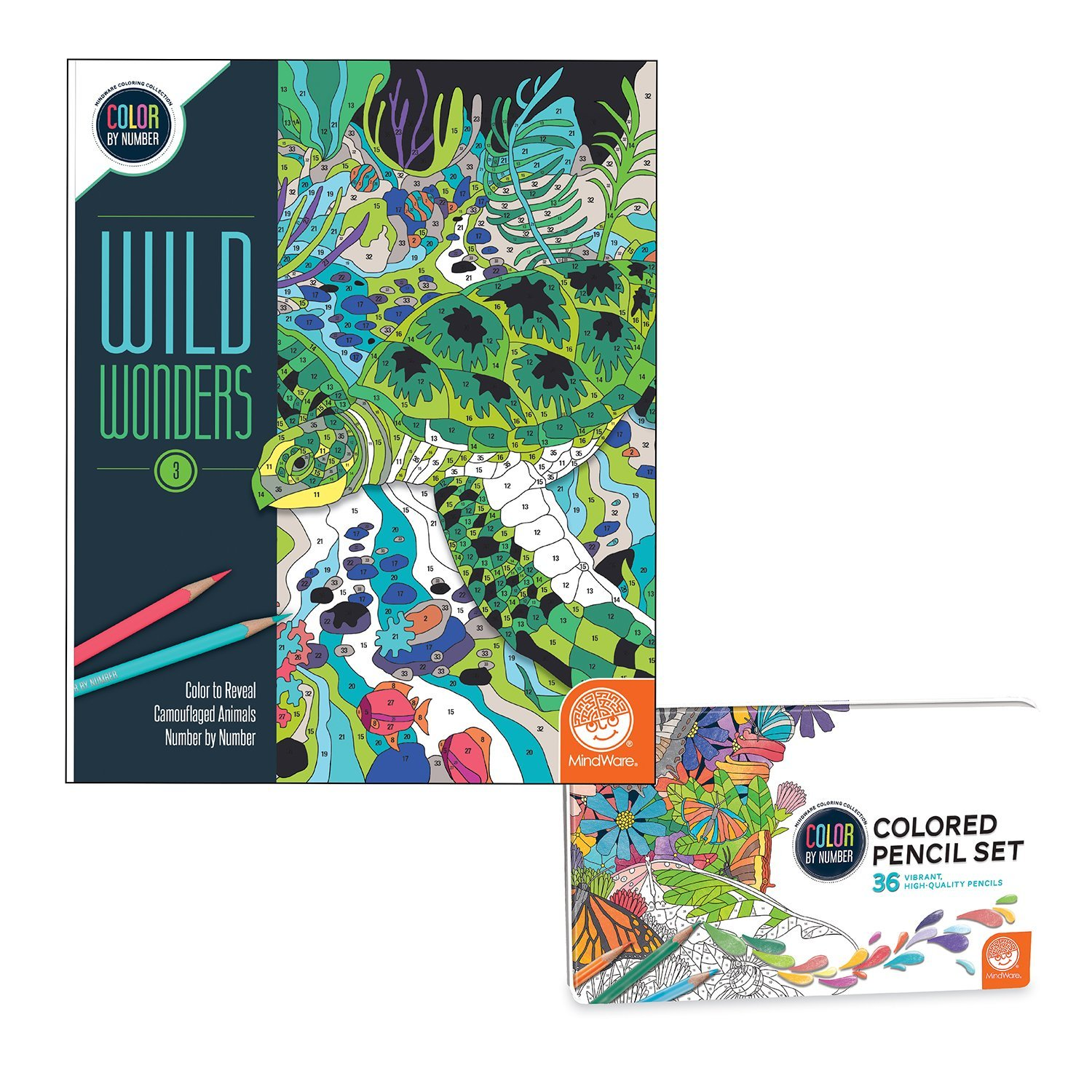 Wild Wonders: Book 3 with Set of 36 Colored Pencils, TOYS THAT TEACH ...