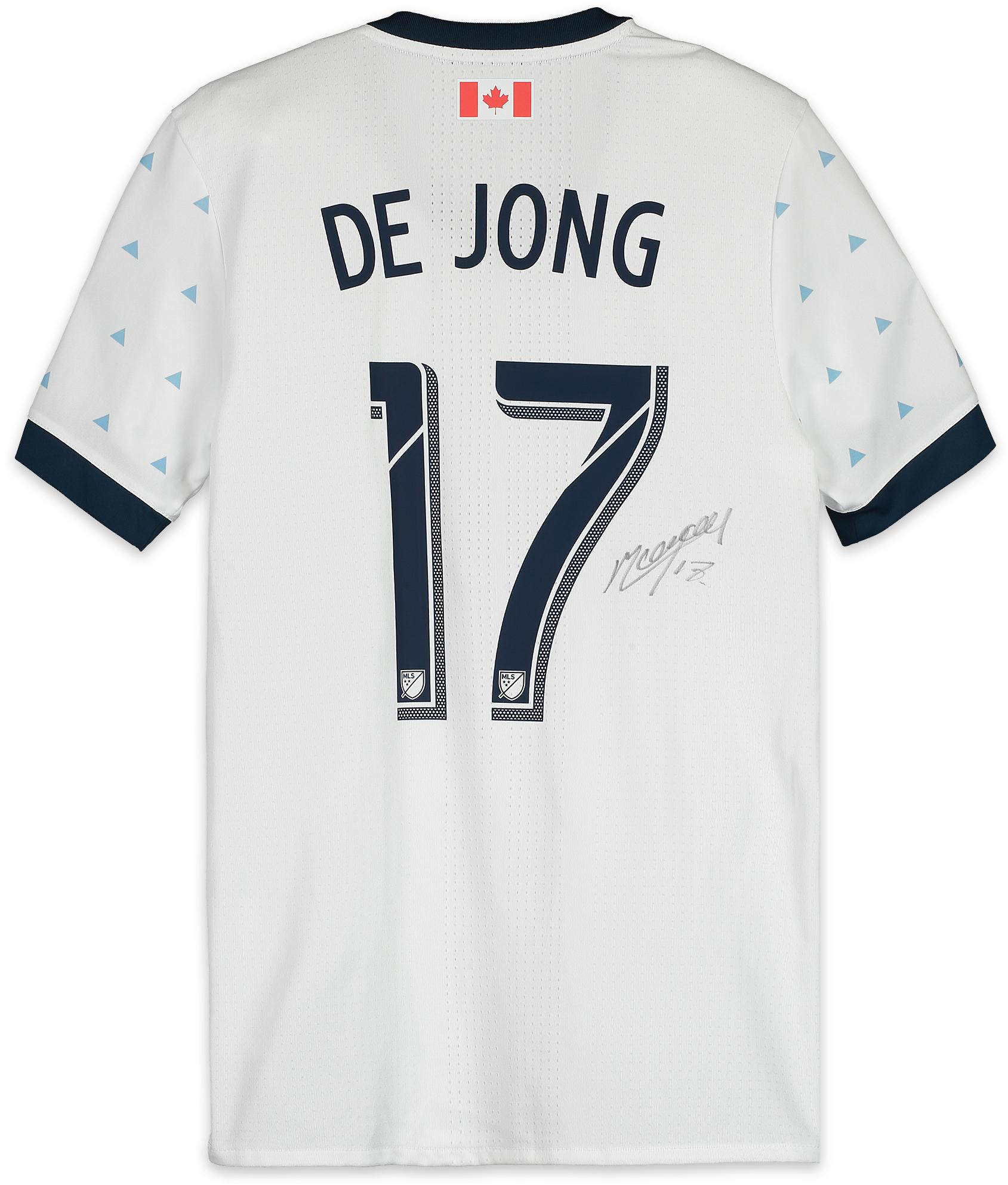 big sale 36c9f 93e6d Marcel De Jong Vancouver Whitecaps FC Autographed Match-Used Gray #17  Jersey from the 2018 MLS Season - Fanatics Authentic Certified