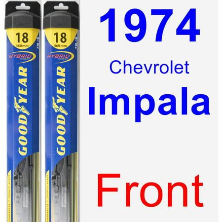 Chevrolet Impala Hybrid (1974 Chevrolet Impala Wiper Blade Set/Kit (Front) (2 Blades) - Hybrid)