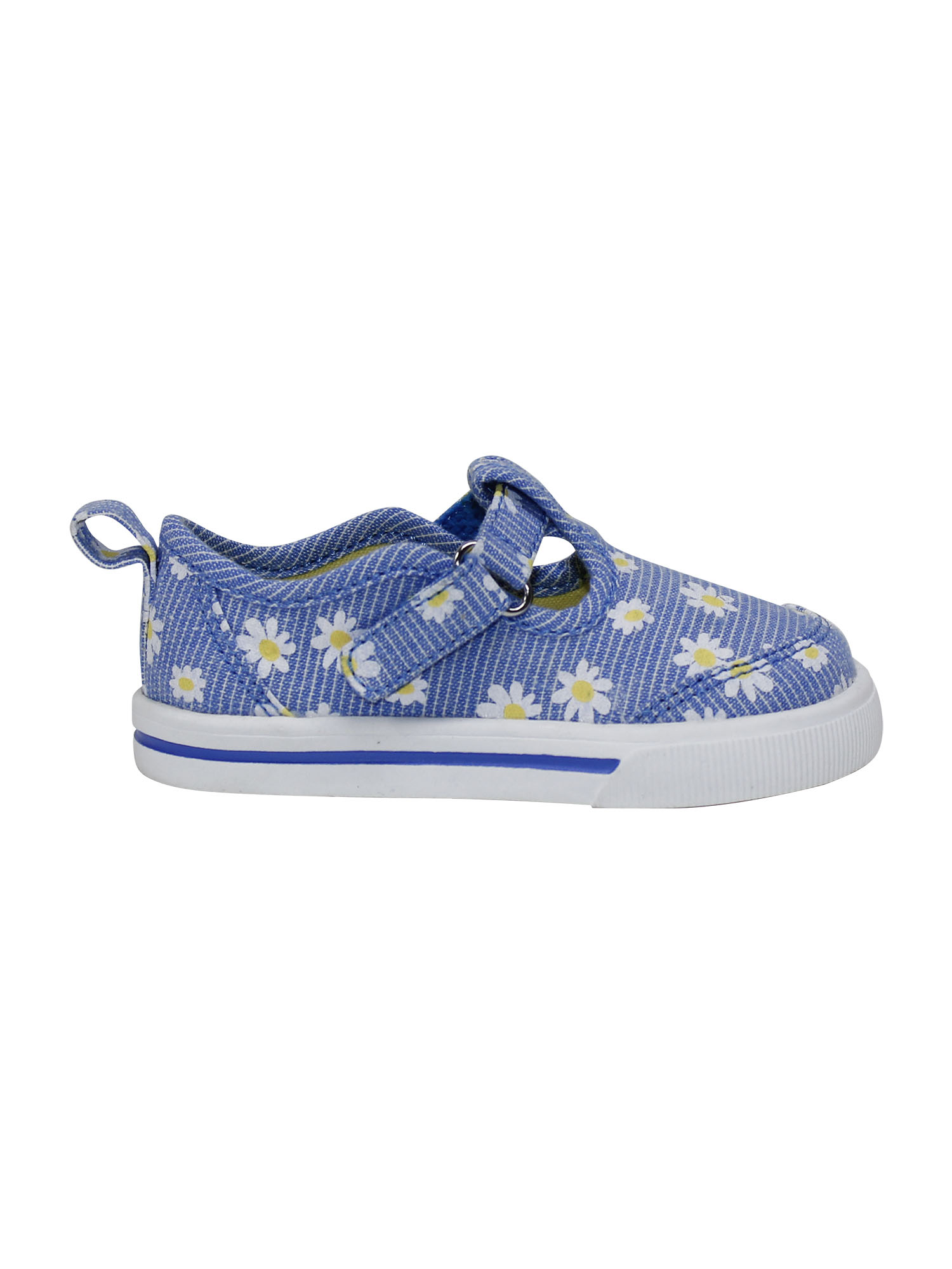 Garanimals Infant Baby Girls Blue Casual T-Strap Canvas Shoes w//Stars Size 4 NEW