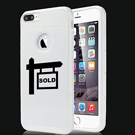 For Apple iPhone (7 Plus) Shockproof Impact Hard Soft Case Cover Real Estate Agent Broker Realtor Sold