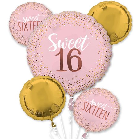 Sweet 16 Balloon Bouquet - Sweet Sixteen Balloons