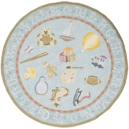 Momeni Lil Mo Classic 2' X 3' Rug in Baby Blue - image 1 of 3