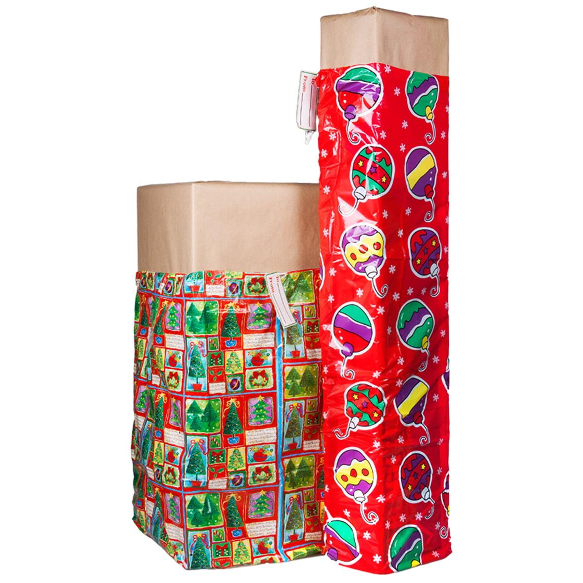 2 xl christmas holiday gift bags for big presents set tags lot jumbo large bulk walmartcom
