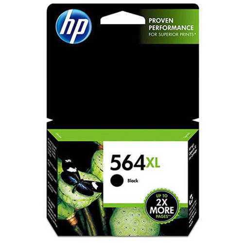 HP 564XL Black High Yield Original Ink Cartridge (CN648WN)