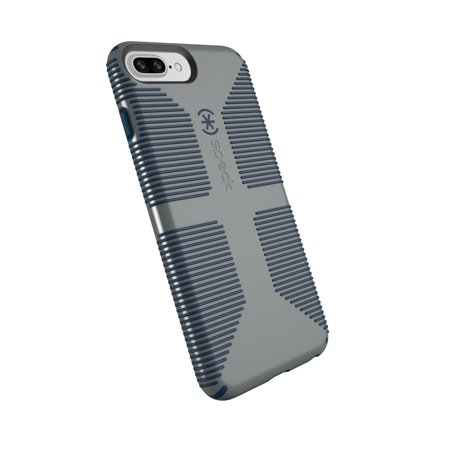 Speck Notebook (Speck CandyShell Grip Case for iPhone 8 Plus, 7 Plus, 6s Plus, and 6 Plus, Grey and Blue )