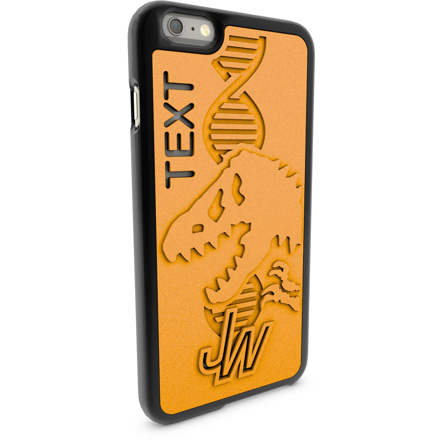 Apple iPhone 6 Plus and 6S Plus 3D Printed Custom Phone Case - Jurassic World - Double Helix Skeleton
