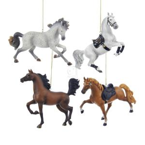 "Kurt S. Adler 5.25"" RESIN HORSE Ornament 4/ASSTD: TENNESS..."