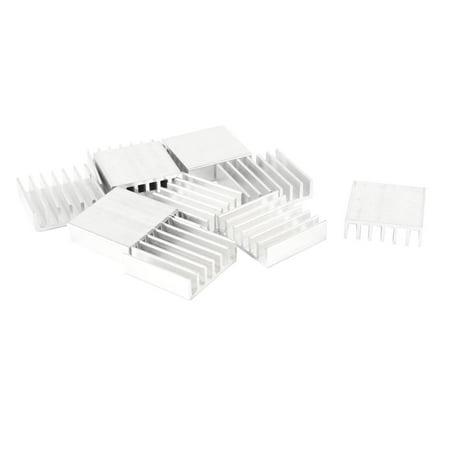 10 x Aluminum Heatsink 20mm x 20mm x 6mm for Voltage Regulator SCR MOSFET