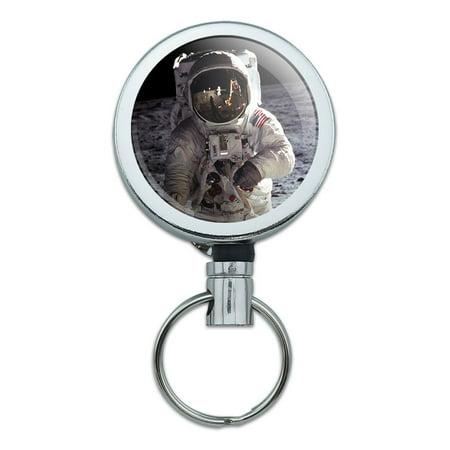 Apollo 11 Moon Landing Astronaut Space Retractable Belt Clip Badge Key (California Competition Works Moon Clip Belt Holder)