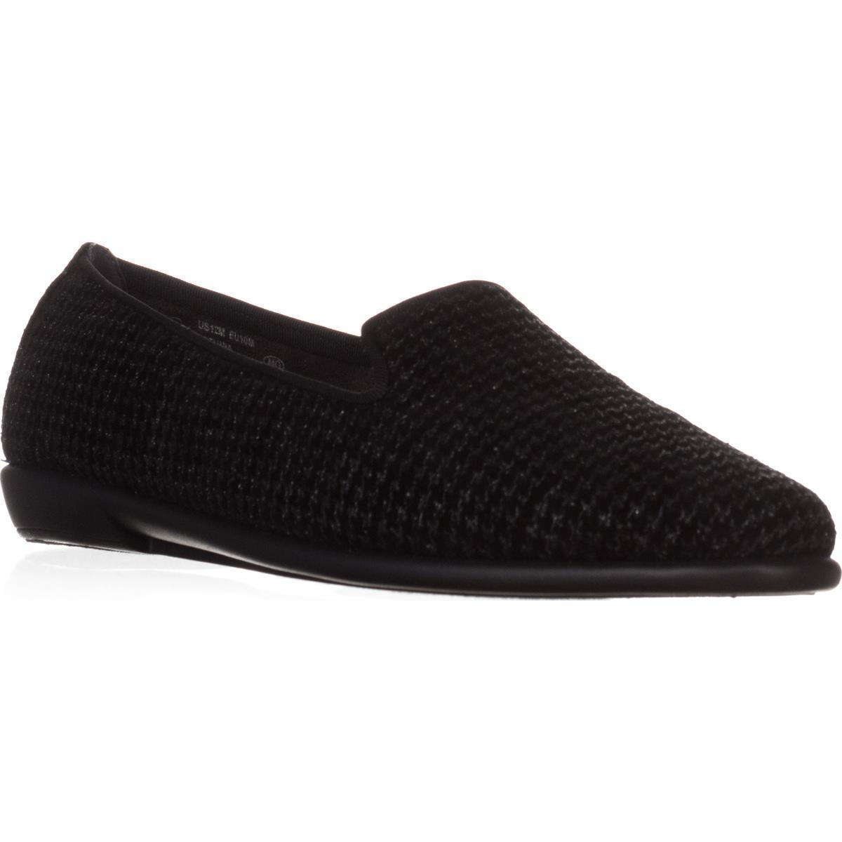 Womens Aerosoles Betunia Embroidered Slip-On Loafers, Black Houndstooth by Aerosoles