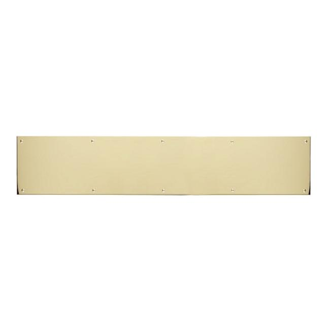 BRASS Accents A09-P0830-605MAG 8 in Kick Plate Polished Brass Magnetic Mount x 30 in