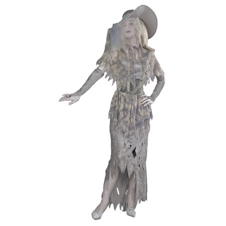Morris Costumes Womens Classic Halloween Ghosts & Skeletons Costume OS, Style FM57477 (Strictly Style Halloween)
