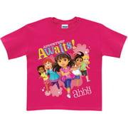 Personalized Dora and Friends Adventure Awaits Girls' T-Shirt, Hot Pink